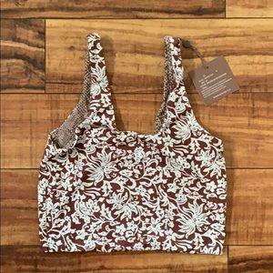 Acacia Swimwear NWT Aspen Top In Brown Batik med